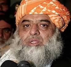 "Islamabad: Jamiat Ulema-i-Islam chief of his faction Maulana Fazlur Rehman on Sunday termed Pakistan Tehrik-i-Insaf (PTI) chief Imran Kahn a ""western agent ... - Fazal-ur-Rehman.7"