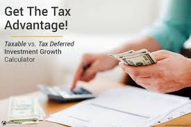 taxable vs tax deferred investment growth calculator