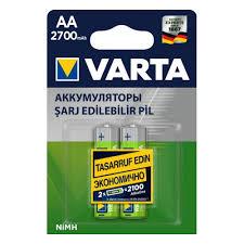 Аккумулятор <b>VARTA</b> LR6 <b>AA</b> 2700 mAh (уп 2 шт) — купить в ...