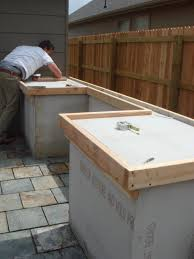 Countertop For Outdoor Kitchen Outside Concrete Countertop Perfect Spot For The Bbq This Would