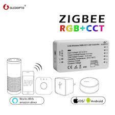 ZLL <b>Home Smart ZigBee RGB</b>+<b>CCT</b> Strip Controller Work Hue ...
