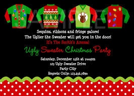 endearing funny work christmas party invitation wording features ugly holiday sweater party invitation template ugly sweater party invitations christmas