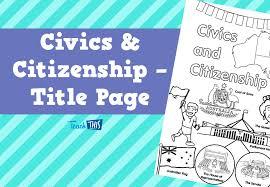 civics citizenship title page printable title pages for civics citizenship title page