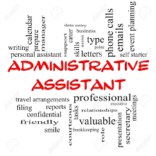 administrative assistant word cloud concept in red caps administrative assistant word cloud concept in red caps great terms such as professional secretary