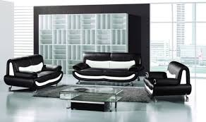 living room ideas black and white wall color with black sofa and glass table adding grey black white living room furniture