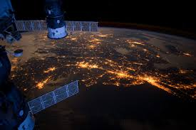 Image result for earth at night from space