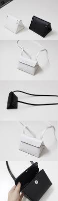 Leather <b>Women Clutch bag shoulder bag triangle</b> black white for ...