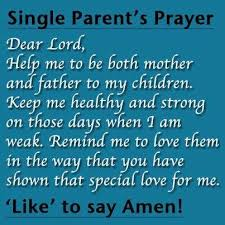 AMEN...! - single mother quotes - single parent - single ... via Relatably.com