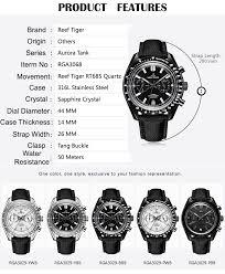 2019 <b>Reef Tiger</b>/<b>RT</b> Mens <b>Designer</b> Chronograph Watch with Date ...