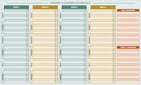 daily schedule templates for excel smartsheet daily house cleaning template