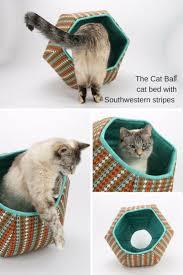 Cat Ball <b>cat bed</b> with Southwestern Fabric <b>Stripes</b>