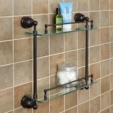 bathroom tempered glass shelf: cade tempered glass shelf two shelves