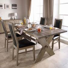 rustic dining table chairs set