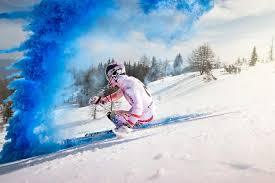 Marcel Hirscher <b>Downhill</b> Run Is a <b>Color</b> Explosion