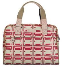 Orla Kiely Tripp <b>Car</b>-<b>Printed Laptop Bag</b>