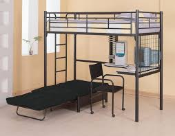 black steel bunk bed with corner white curving bed combined with chair placed on the cream bedroommarvellous leather desk chairs