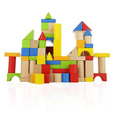Wooden Building Blocks Set - 100 pc for Toddlers ... - Amazon.com