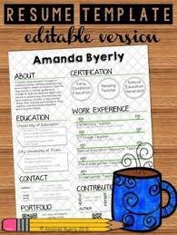 free editable teacher resume template teacher resume samples free