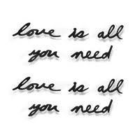 <b>Декоративная надпись Love Is</b> All You Need 2500р. купить в ...