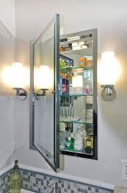 Recessed Bathroom Mirror Cabinets Mirrored Medicine Cabinet Transitional Bathroom Design Interior