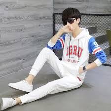 <b>Spring and Autumn</b> Casual Jacket Men's Sweater Set Teen Student ...