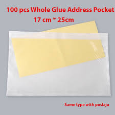 (<b>100pcs</b>) A5 Whole Glue Address Consignment Note Pocket/Pouch ...