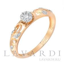 Помолвочное <b>кольцо с 19 бриллиантами</b> - LAVARDI
