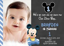 mickey mouse st birthday invitations invitations design chalkboard mickey mouse 1st birthday invitation ideas