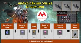 Hướng dẫn ép Quạ Tinh, Dark Raven Mu Online, hồi máu Quạ Tinh