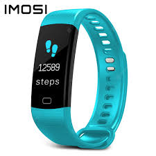 Imosi Y5 <b>Smart Bracelet</b> Color Screen Heart Rate Fitness Tracker ...