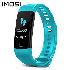 Imosi Y5 <b>Smart</b> Bracelet Color Screen Heart Rate Fitness Tracker ...
