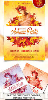 70 best flyer psd templates designmaz autumn party flyer psd template facebook cover