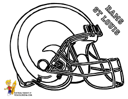 Small Picture NFL Rams Football Helmet Coloring Pages Library Pinterest Craft