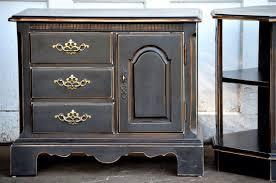 distressed antique black bedroom furniture