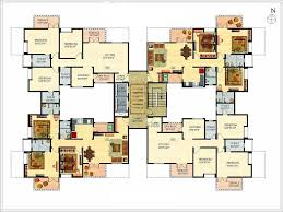 Multi Family Large House Floor Plans Colored Layout   HomesCorner ComMulti Family Large House Floor Plans Colored Layout