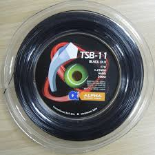 Alpha BLACK OUT 1.25mm Pentagon Tennis Racket Spin String ...