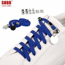 1Pair SOBU <b>New</b> 17 colors <b>Elastic</b> Locking <b>Round Shoe Laces</b> No ...