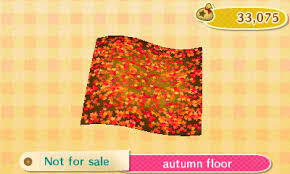 autumn floor is a piece of furniture in animal crossing new leaf you can use it to decorate your home or museum exhibit autumn furniture
