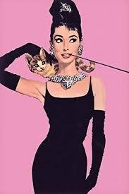 Audrey <b>hepburn</b> poster - <b>cute cat</b> - rare new hot 24x36 | Audrey ...
