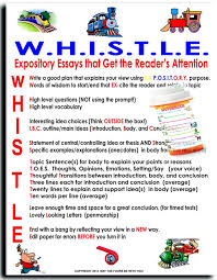 images about writing on pinterest   expository writing    this document is an acronym to help students write an exciting expository essay  w h i s t l e gives