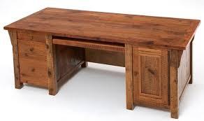 barnwood desk three drawers and one door barn office furniture