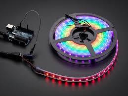 Adafruit NeoPixel Digital RGB <b>LED Strip</b> - Black <b>60 LED</b> [BLACK] ID ...