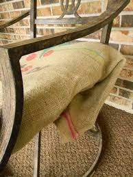 no sew burlap sack cushion covers how to outdoor furniture outdoor living burlap furniture