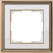 <b>Рамка</b> Palacio на 1 пост золото/белый WL17-Frame-01 ...