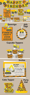 Construction Birthday Party Decorations 17 Best Ideas About Construction Birthday Parties On Pinterest