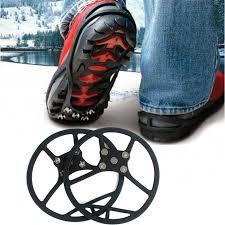 Антискользящие <b>накладки на обувь</b> с шипами, черные — купить в ...