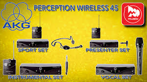 <b>AKG</b> PERCEPTION WIRELESS 45 VOCAL SET + INSTRUMENTAL ...