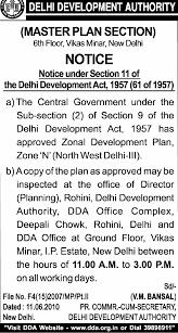 delhi notifications public notices delhi master plan mpd 2021 zone n notification click here