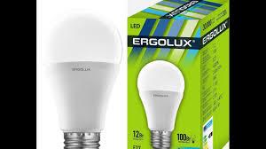 <b>Лампа светодиодная Ergolux LED-A60-12W</b>-E27-3K, теплый свет ...