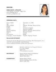 resume simple sample resume picture of template simple sample resume full size